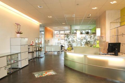 Eingangsbereich Prophylaxezentrum
