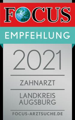 Siegel Fokus Ausgezeichneter Zahnarzt 2021